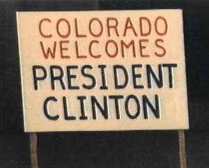 Clinton sign