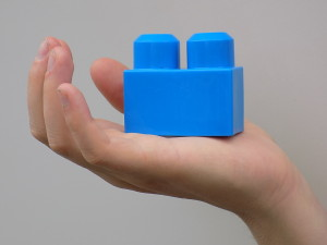 hand with Lego